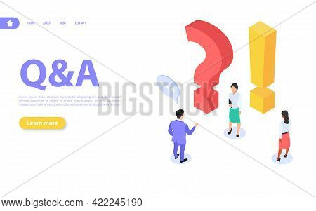 Questions And Answers Concept. The Man And The Woman Get Answers To Their Questions. Online Support