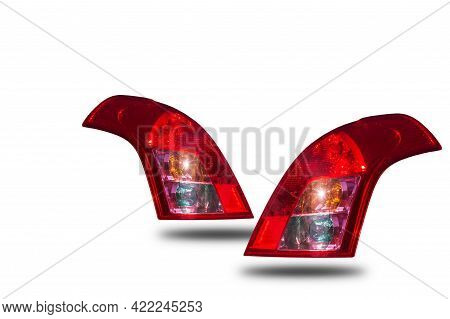 Car Tail Lights Separated From White Background Clipingpart.