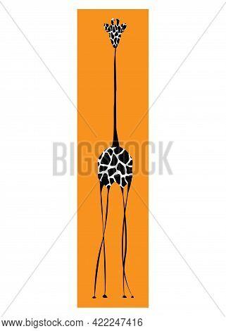 Vector Image The Giraffe Body On The White Background, Giraffe Logo, Giraffe Tattoo, Africa Safari V