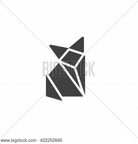 Origami Fox Vector Icon. Filled Flat Sign For Mobile Concept And Web Design. Paper Fox Glyph Icon. S