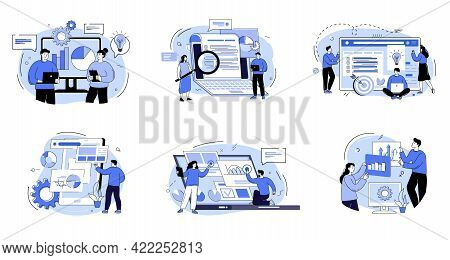Group Of Men And Women Taking Part In A Business Meeting, Brainstorming, Conference And Seminar. The