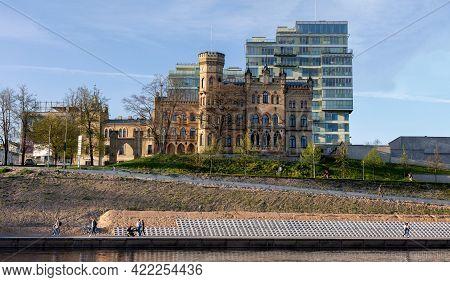 Vilnius, Lithuania - May 11, 2021: House Of Medician Hilary Raduszkiewicz Built By Julian Januszewsk