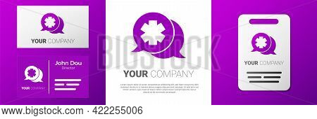 Logotype Dialogue With The Doctor Icon Isolated On White Background. Doctor And Patient Dialog. Cons