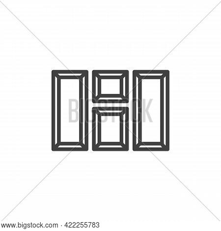 Blank Picture Frames Line Icon. Linear Style Sign For Mobile Concept And Web Design. Photo Gallery F