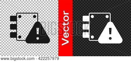 Black House Under Protection Icon Isolated On Transparent Background. Home And Lock. Protection, Saf