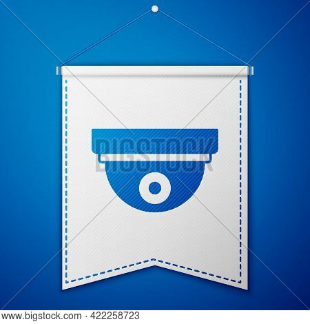 Blue Motion Sensor Icon Isolated On Blue Background. White Pennant Template. Vector
