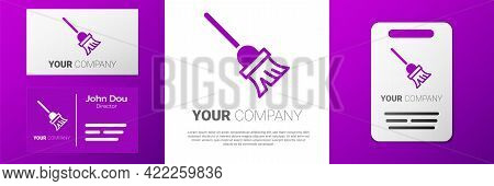 Logotype Mop Icon Isolated On White Background. Cleaning Service Concept. Logo Design Template Eleme