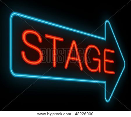 Stage Sign.