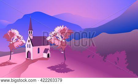 Catholic Church In Sunrise Mountains