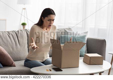 Wrong Or Broken Online Store Order, Bad Delivery Service, Displeased By Post Shipping