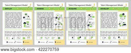 Talent Management Model Brochure.deploy, Assess, Acquire, Develop Template. Flyer, Magazine, Poster,