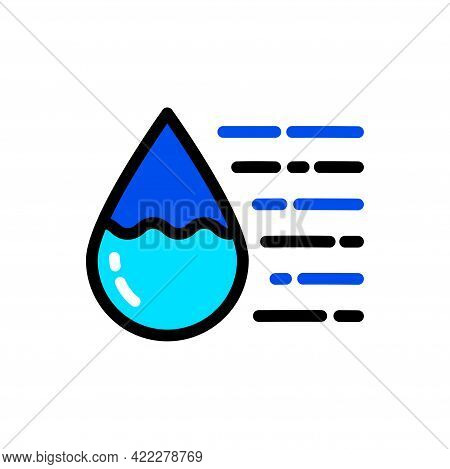 Water Drop Color Simple Icon. Clean Spring Or Purified Water. Logo For Water Delivery Service. Vecto