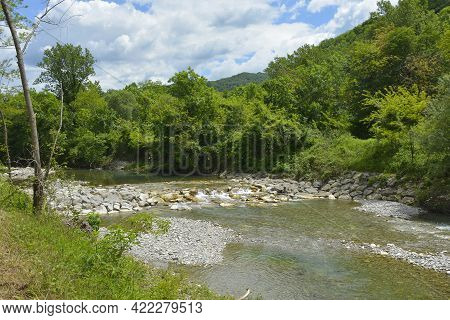 The Late May Landscape Near The Torrente Cosizza River Close To The Village Of Merso Di Sopra In Udi