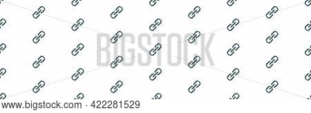 Chain, Link Icon Vector. Link Icon. Hyperlink Chain Symbol. Chain Vector Symbol. Link Icon Isolated.