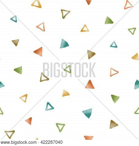Seamless Pattern. Abstract Multicolored Elements. Geometric Figures
