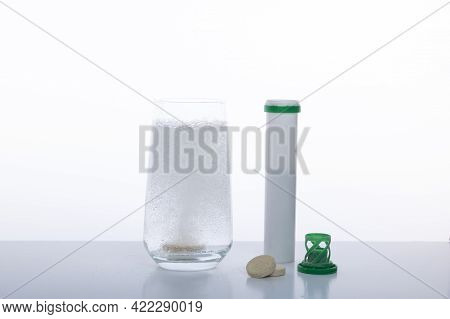 Water-soluble Vitamin. Gas In A Glass. Gas Bubbles In A Glass. Aspirin Is Water Soluble. Tablet In W