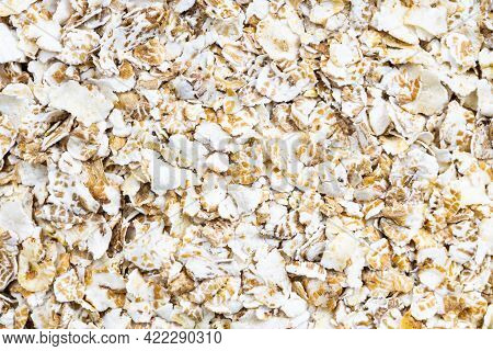 Food Background - Raw Four Cereal Flakes