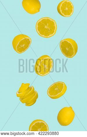 Carrot On Pastel Blue And Yellow Background. Minimal Raw Food Concept. Spring Minimal Composition. C