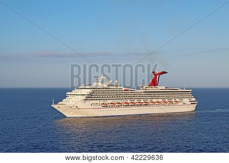 Cruise Ship Carnival Triumph On The Caribbean Sea