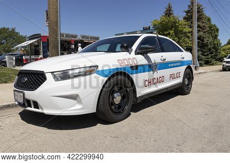 Chicago - Circa May 2021: Chicago Police Department Vehicle. Cpd Is The Second-largest Municipal Pol