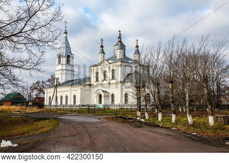 Church Of The Resurrection Of Christ In The Village Of Ramene Shakhovskogo District Of The Moscow Re