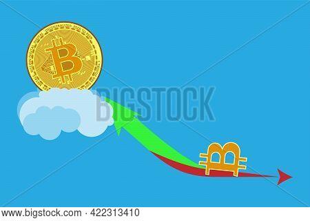 Bitcoin Price Skyrocketed. Bitcoin Price Fluctuations. The Price Of Bitcoin Btc Has Skyrocketed. Dow