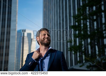 Angry Businessman. Screaming Furious Business Man Getting Mad. Bad Business News.