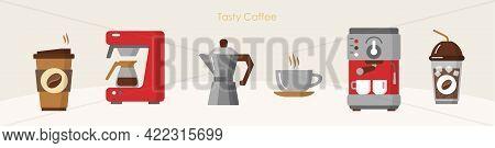 Tasty Coffee Modern Equipment Hot Drink Brewing Set