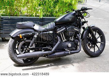 Bordeaux , Aquitaine France - 05 27 2021 : Harley Davidson Roadster Motorbike American Custom Motorc