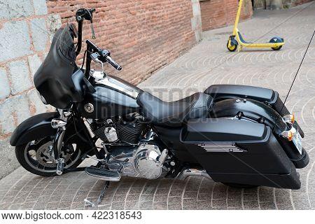 Bordeaux , Aquitaine France - 05 27 2021 : Harley Davidson Bike Electra Road Glide Motorbike America