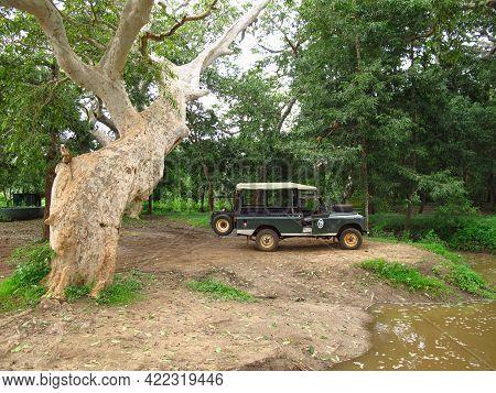 Yala, Sri Lanka - 09 Jan 2011: The Car For The Safari In Yala National Park, Sri Lanka