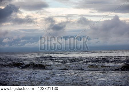 Baltic Sea On A Cloudy And Windy Day