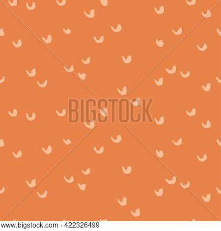 Stamped U Abstract Seamless Vector Pattern. Cute Handpainted U Shapes Scattered Randomly In A Beauti