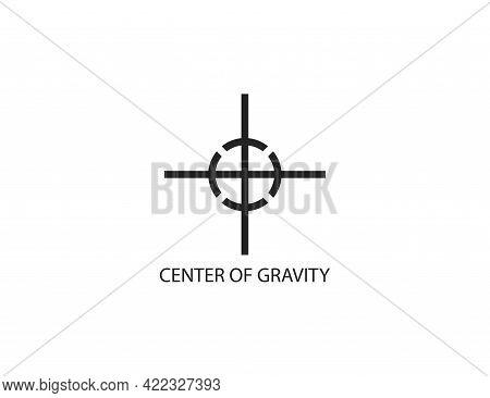 Center Of Gravity Symbol, Icon. Vector Illustration.