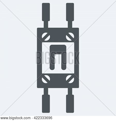 Automatic Electric Fuse Icon In Flat Style Isolated On White Background.vector Illustration.