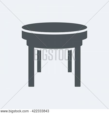 Stool Icon In Flat Style Isolated On White Background.vector Illustration.