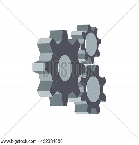 Part Of The Gearbox Mechanism.isometric And 3d View.
