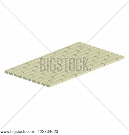 Layout Example Of Paving Slabs.isometric And 3d View.