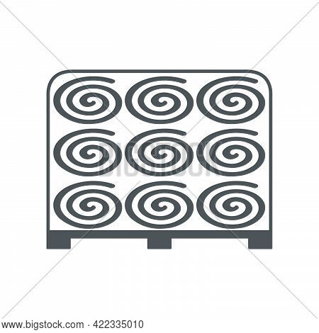 Turf Rolls.lawn Rolls On A Pallet Icon In A Flat Style Isolated On White Background.vector Illustrat