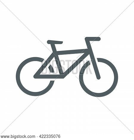 Bike Icon In A Flat Style Isolated On White Background.vector Illustration.