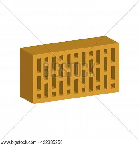 Building Brick Isolated On White Background.3d Vector Illustration And Isometric View.