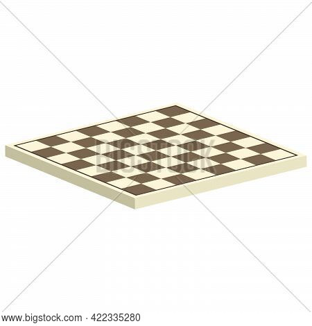 Board Game Of Chess.chess Board Without Game Pieces Isolated On White Background.vector Isometric An