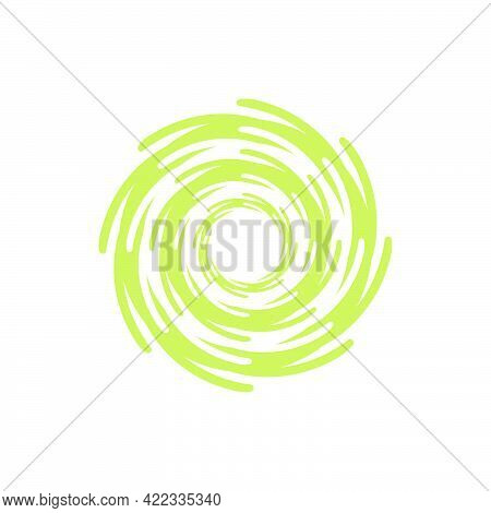 Whirlpool Icon In Flat Style Isolated On White Background.vector Illustration.