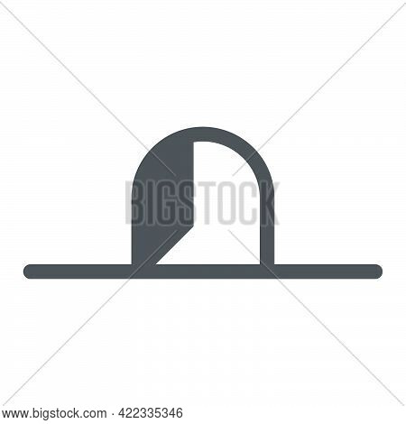 Mouse Hole Icon In Flat Style.vector Illustration.
