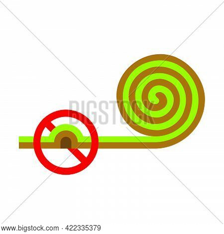 Turf Roll.incorrect Preparation Soil Under For Lawn Roll Icon In A Flat Style Isolated On White Back