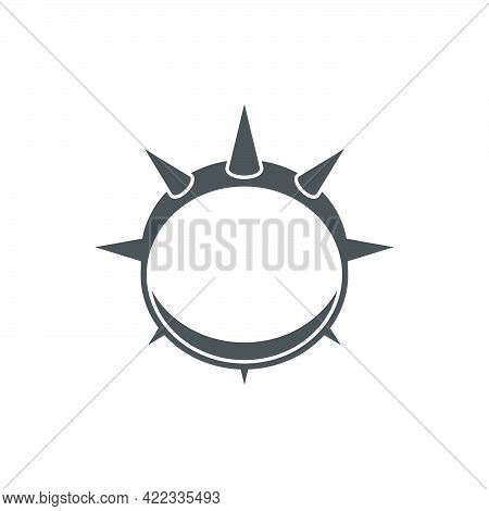 Collar With Spikes For Pets Icon In Flat Style Isolated On White Background.vector Illustration.