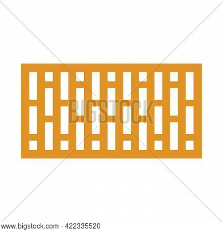 Building Brick Icon In A Flat Style Isolated On White Background.vector Illustration.