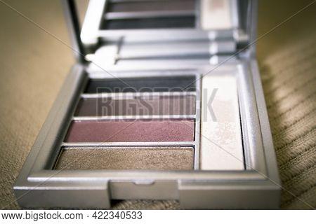 Eyeshadow Palette In Brown Tones. No People