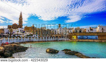 View Of Monopoli, Apulia, Italy On The Adriatic Sea