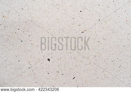 Beige Recycled Craft Paper Texture As Background. Light Gray Or Beige Paper Sheet Or Cardboard, Top